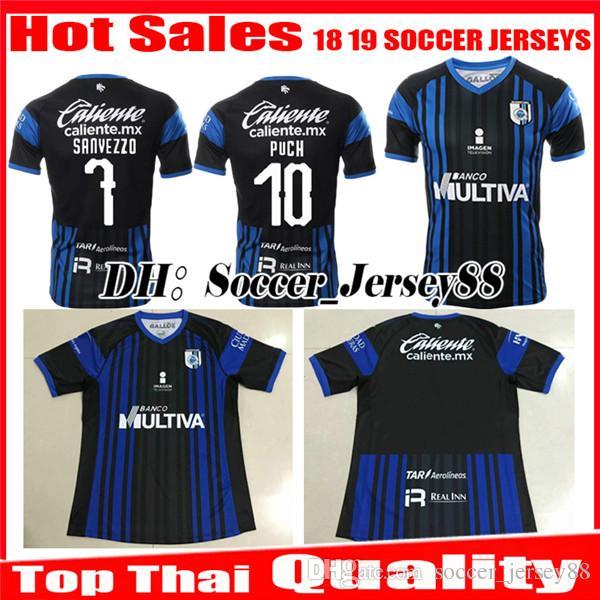 2018 2019 Queretaro Soccer Jersey Puch Futbol Camiseta Liga MX Casa Azul  Sanvezzo Hiram Mier Jaime Gomez Maillots De Camisetas De Fútbol Camisetas  Por ... 4bc2ac5b30466