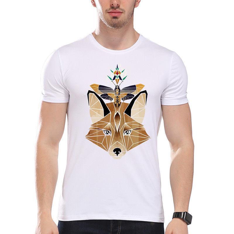 Geometric Fox Animals Cute Night Butterfly Moth Funny Joke Men T Shirt Tee  Cheap T Shirts Long Sleeve T Shirts From Yg08tshirt 99925cb27