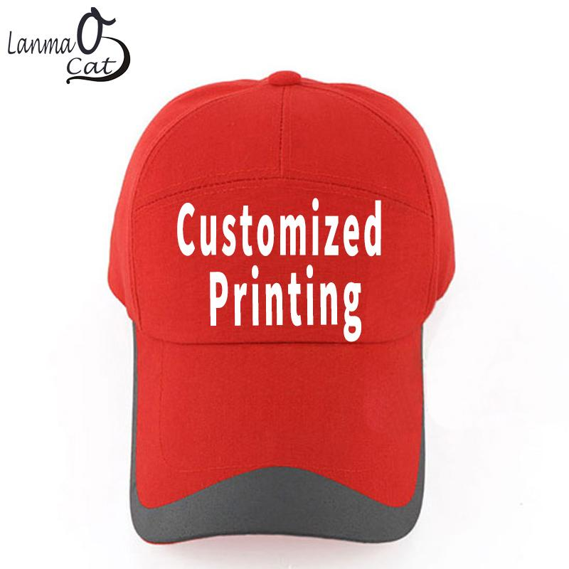 Lanmaocat Caps For Men Women Men s Baseball Caps Custom Printed Logo Text Baseball  Cap With Straight Visor DIY Hat Baby Cap Embroidered Hats From Milknew 53a350924