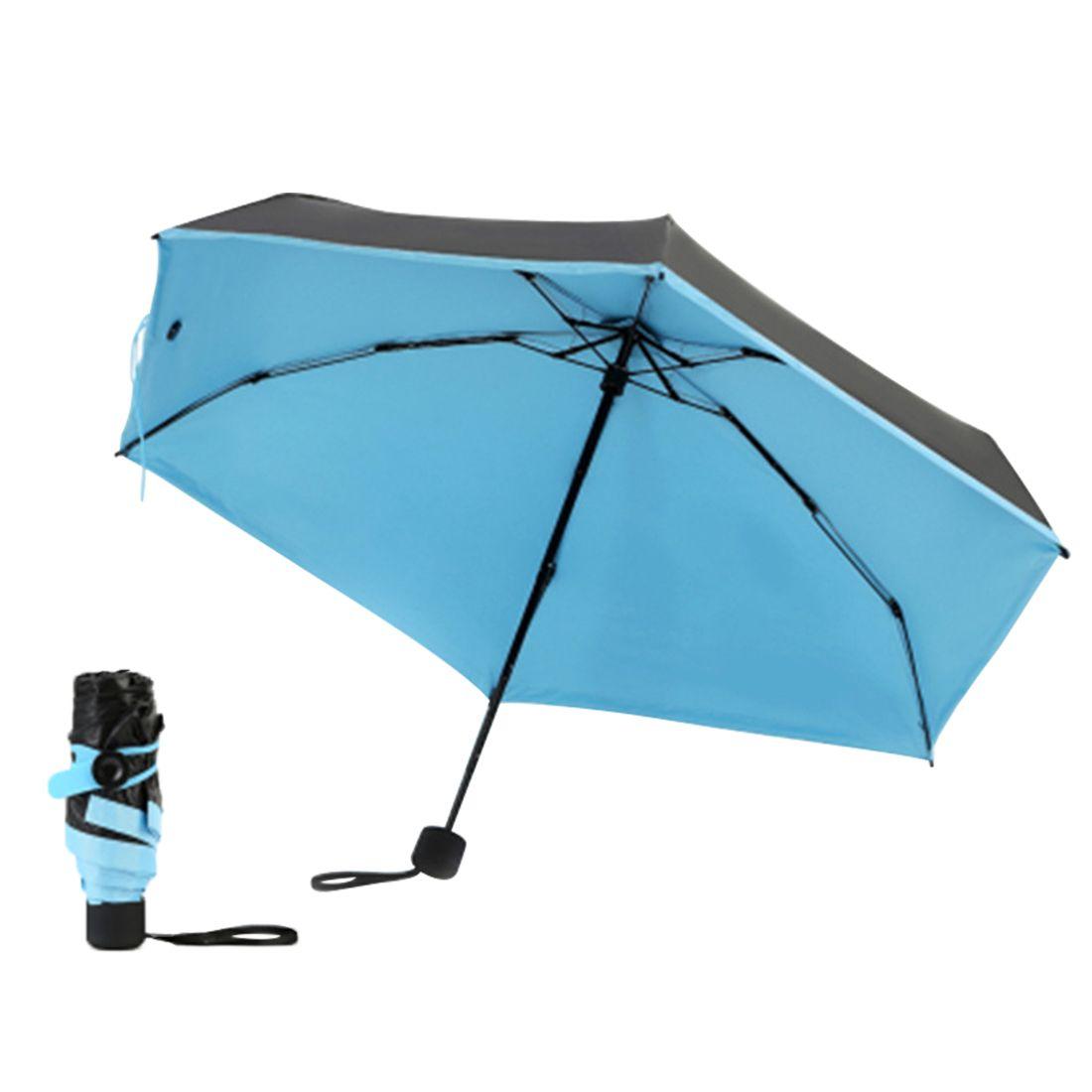 17a3a86c1f50 New Mini Pocket Umbrella Women Sunny and Rainy Mini Fashion Folding  Umbrellas 210g Small Sun Parasol Umbrella
