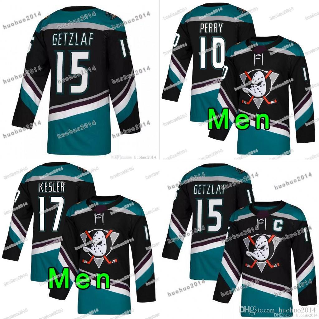 419bb5980 Anaheim Mighty Ducks Black Teal  15 Ryan Getzlaf  17 Ryan Kesler  10 Corey  Perry Blank Hockey Jerseys All Stiched UK 2019 From Huohuo2014