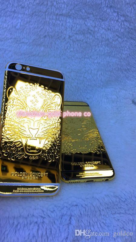 2018 heißer verkauf reales gold zurück für iphone6 6s 4