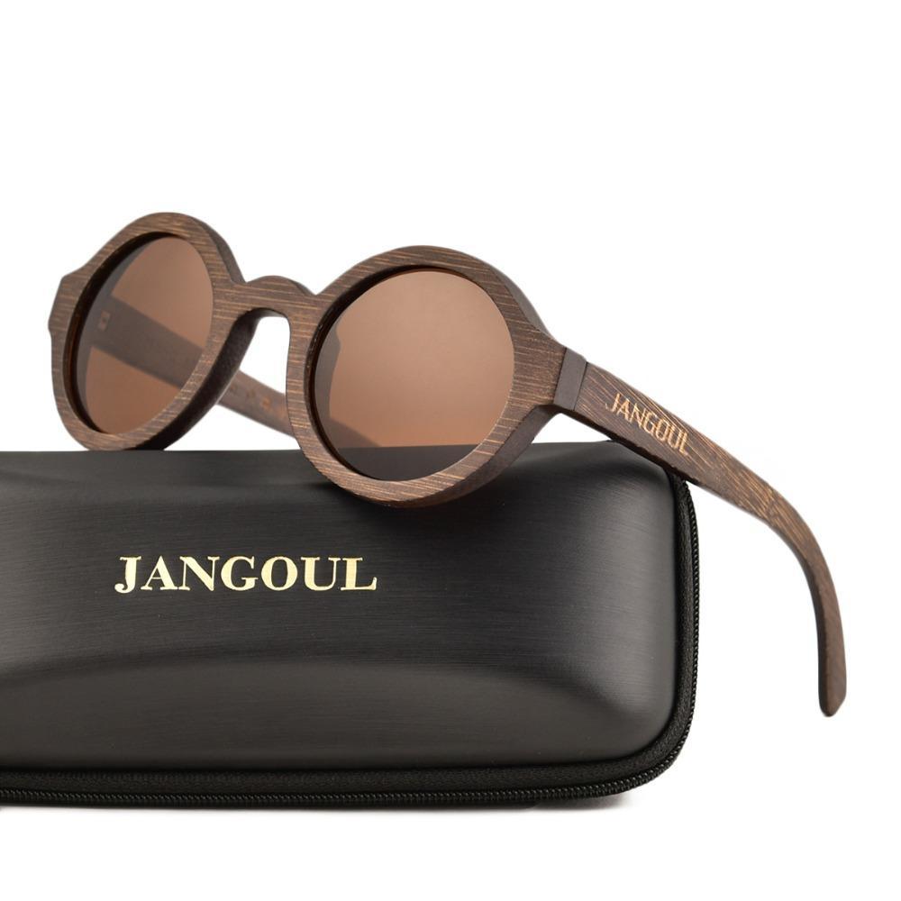 4e8b294075 JANGOUL Design Wood Sunglasses Classic Bamboo Wooden Sun Glasses Natural Men  Women Retro Handmade Eyewear 023 Prescription Glasses Sunglass From ...