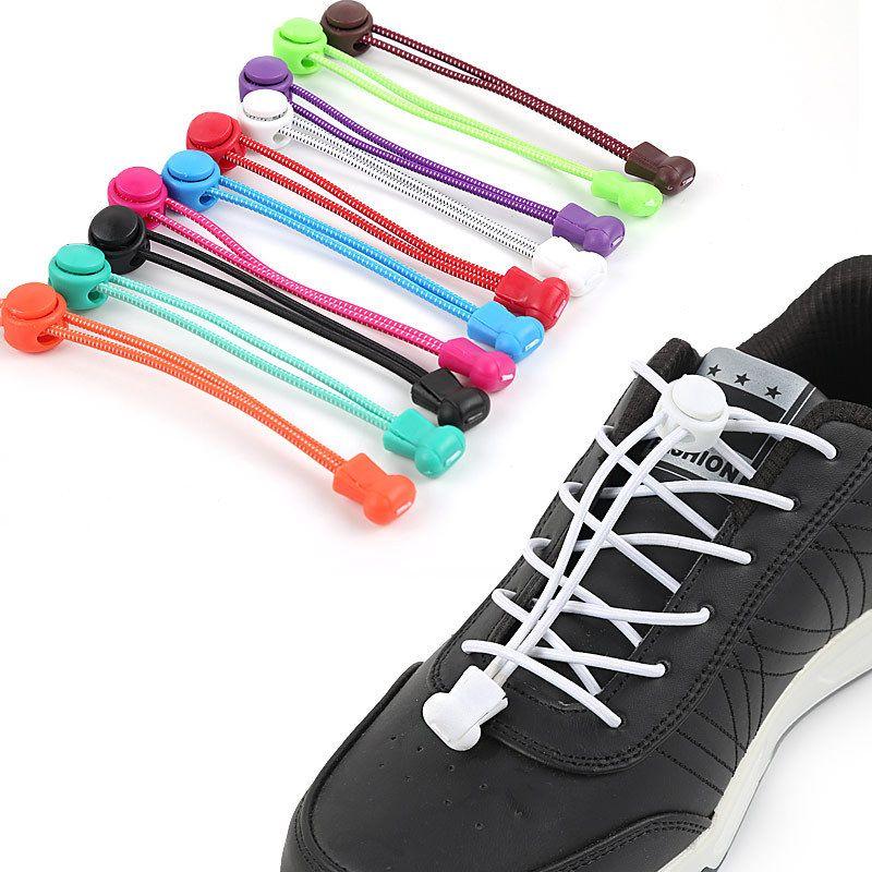 Stretch Farbe Sportschuhe Schnürsenkel Schnalle Faule Elastic Erwachsene Kind Runde yNm8nv0wO