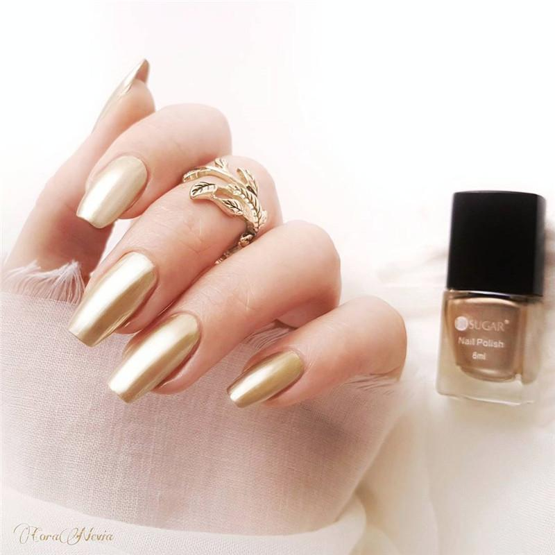 UR SUGAR 6ml Metallic Nail Lacquer Mirror Effect Gorgeous Metal Nail ...