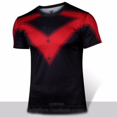 ETQ Fire Heroes Mens Ant Man Robin Nightwing Yellow Jacket T Shirt Polyester Costume Short Sleeve Unisex T-shirt Tops Tee Shirts