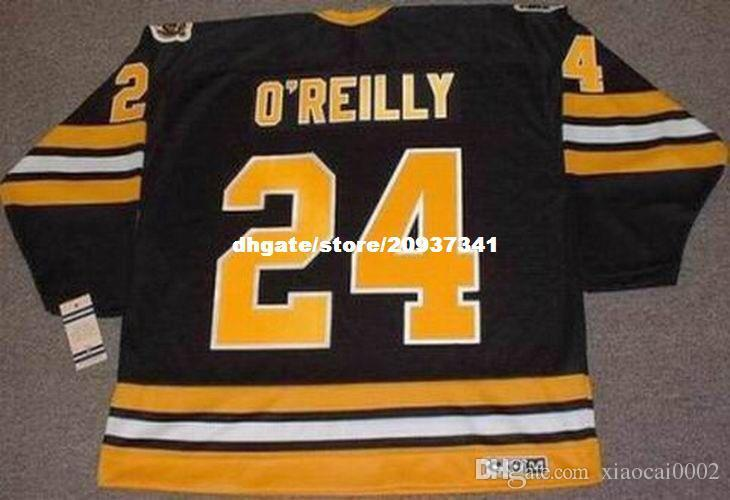 0c3f964ed 2019 Wholesale Mens TERRY O REILLY Boston Bruins 1984 CCM Vintage Away  Cheap Retro Hockey Jersey From Xiaocai0002