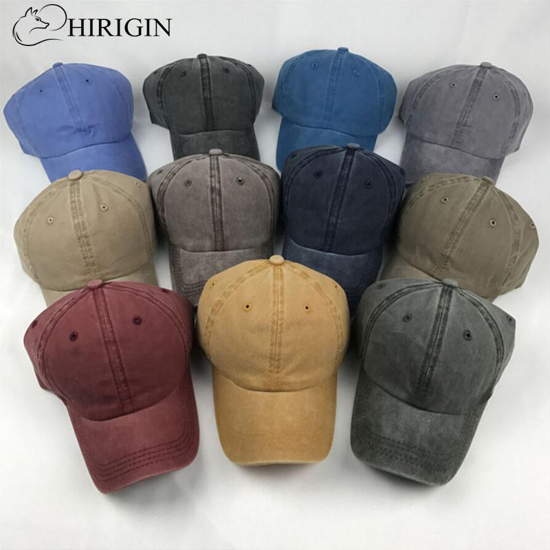 HIRIGIN Solid Distressed Vintage Cotton Polo Style Baseball Ball Cap Hat  100% Cotton NEW Casquette Hats For Men Hatland From Fengyune 0188bdd2b7e
