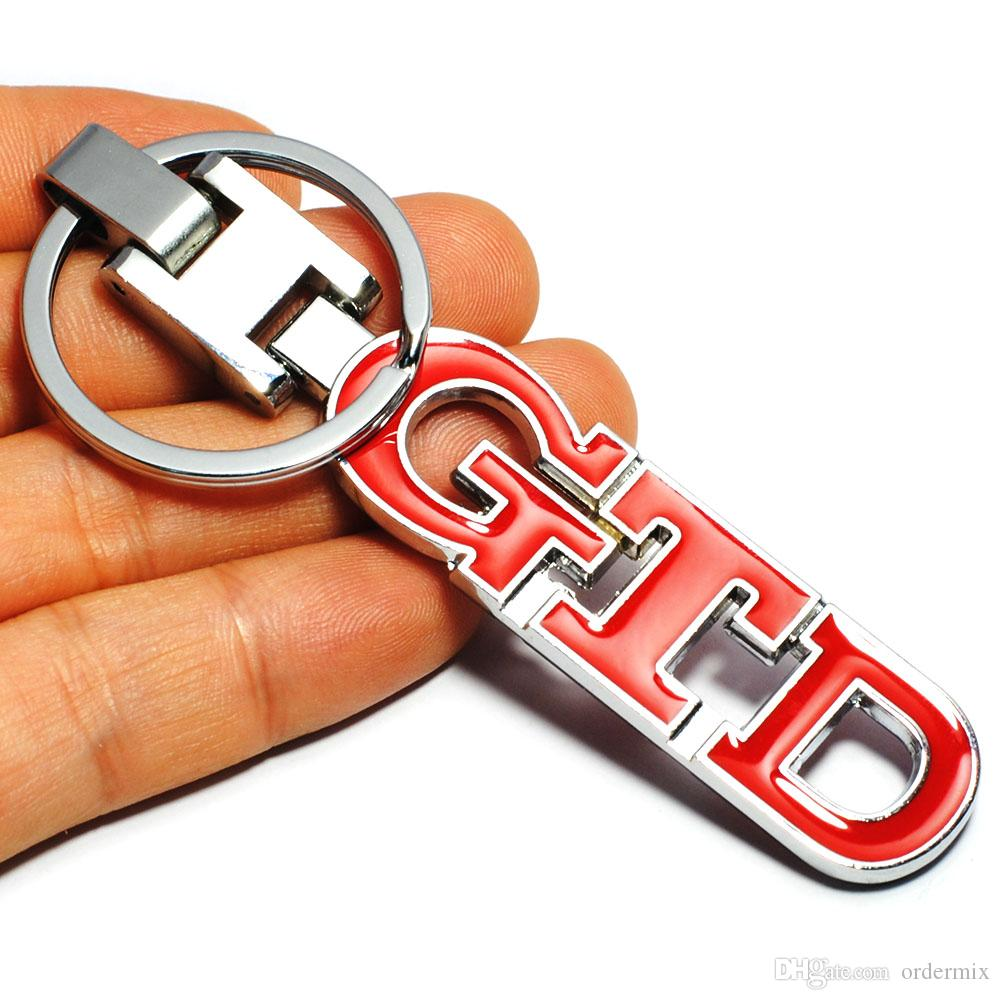 3D Car Keychain GTD Logo Key Chain Key Ring for Volkswagen VW Golf 4 5 6 7 Polo Passat B5 B6 B7 Touran Tiguan Bora Car Styling