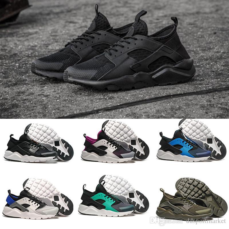promo code b0060 3e0dd Compre 2017 Nuevo Aire Nike Air Huarache IV 4.0 Ultra Running Zapatos  Huraches Entrenadores Para Hombres Mujeres Multicolor Zapatos Triple  Huaraches ...
