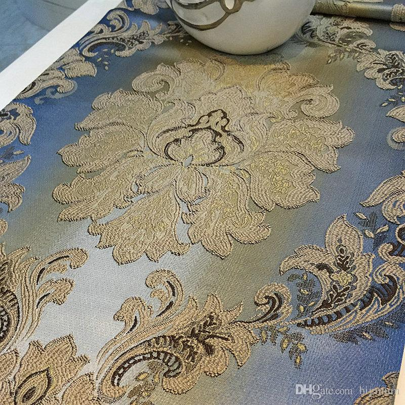 Modern Luxury European Minimalist Jacqurard Table Runner for Coffee Table Placemat Decoration Table Cloth 32 cm x 210 cm