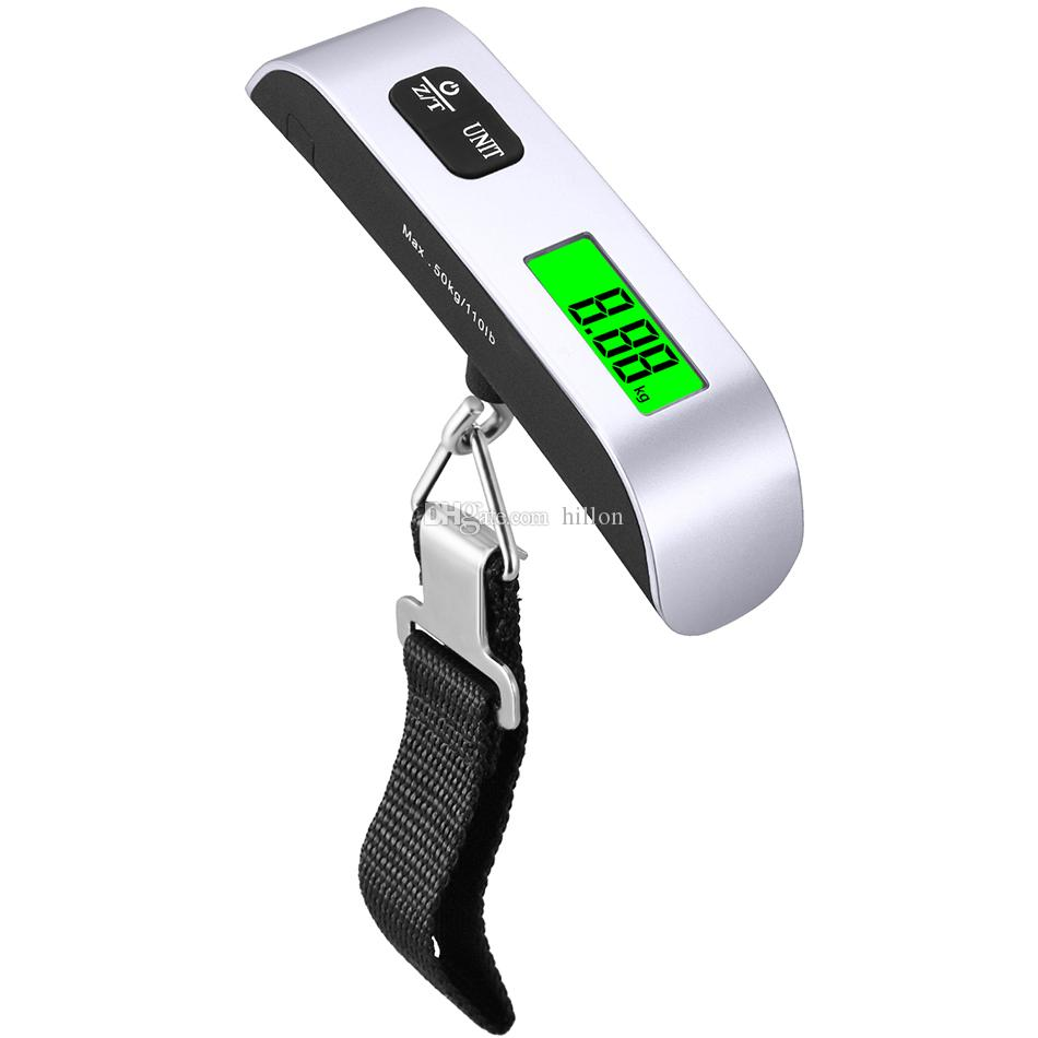 bd31721bc949 50kg 110lb Electronic Luggage Scale 50kg*10g digital LCD luggage Hanging  Weight Scale portable electronic luggage hook scale with OPP Bag
