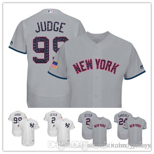 New York Yankees Aaron Judge 2017 Stars And Stripes Jersey Derek ... a19d3340e