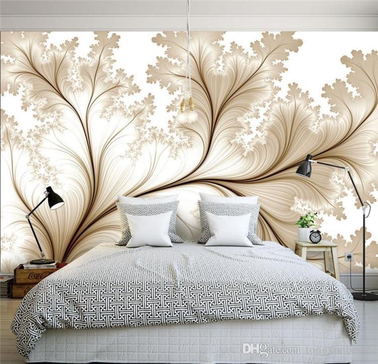 Modern Minimalist 3d Simple Flowers Custom Wallpaper For