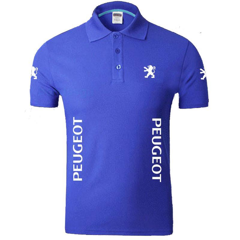 Compre Novas Mulheres E Peugeot Camisetas Masculinas Sólidos Manga Curta  Verão Cotton Lapela Tops De Bunnier bfa0b05c9a13f