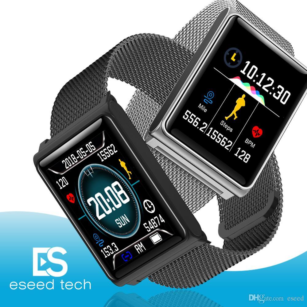 63dbacdf856 Compre N98 Relógio Inteligente Das Mulheres Dos Homens Relógios  Inteligentes Faixa De Fitness Banda Heart Rate Monitor De Pressão Arterial  Pulseira À Prova ...