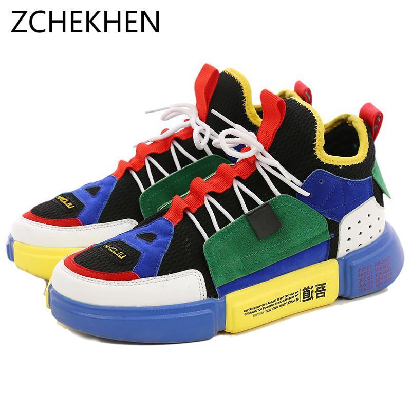 Compre 2019 Outono High Top Sapatos Da Estrela Dos Homens Tênis De Marca De  Luxo Branco Designer Versão Sapatos Casuais De Ouro Hip Hop Shoes Zapatos  Hombre ... bd578902865