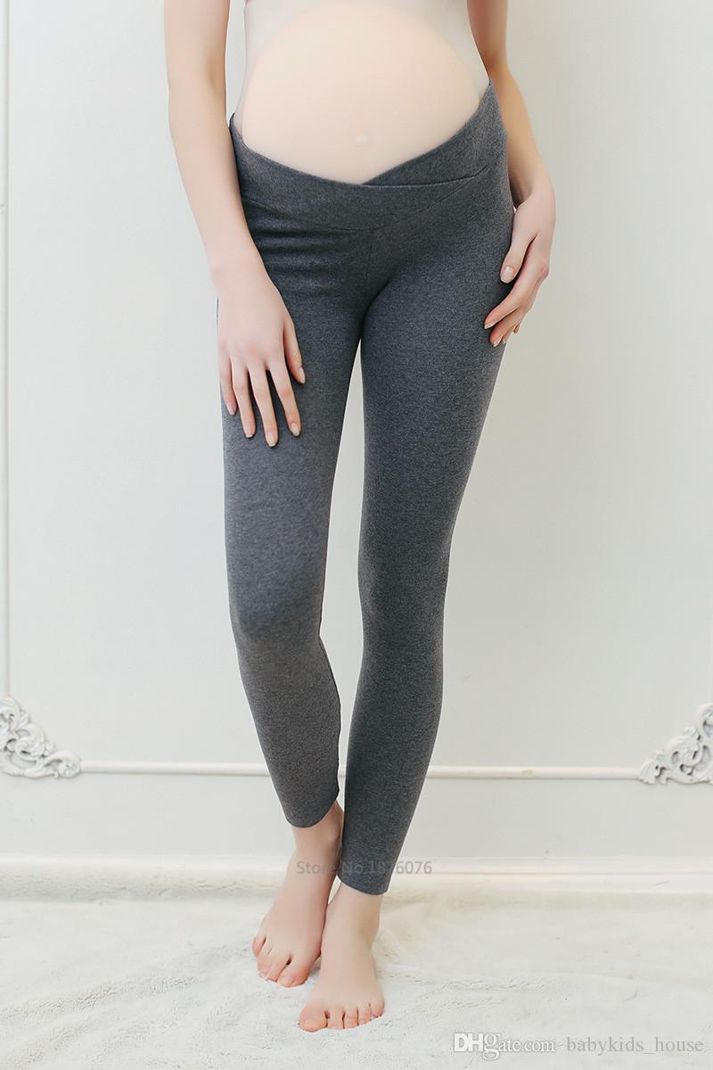 93f720fdbda78 2019 Spring Autumn Maternity Leggings Low Waist Pregnancy Belly Pants For Pregnant  Women Maternity Thin Trousers Clothes Leggings From Babykids_house, ...