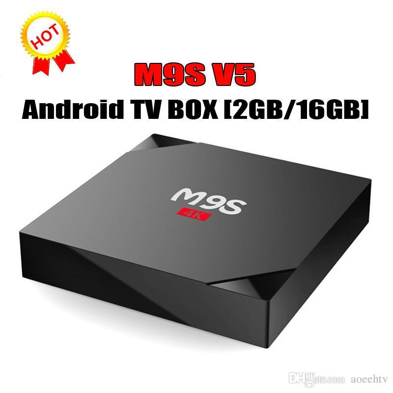 Hot M9S V5 4K TV Box 2GB+16GB Android 6 0 Smart IPTV Bluetooth RK3229 WiFi  4K Media Player MINI PC 3D 4K TV BOX