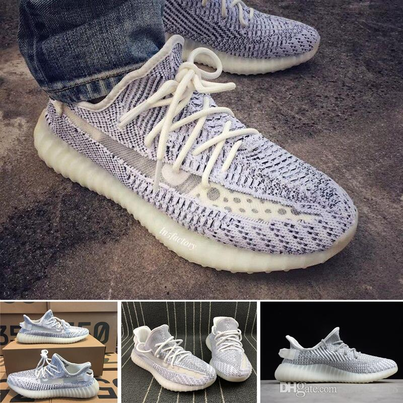 e54064421b015 2019 Best Quality Static 350 V2 Butter F36980 Kanye West Sesame F99710 New  Running Shoes Zebra Bred Black Stripes Sneakers Size 36 48 With Box From ...