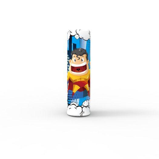 Cute Superhero Hulk Batman Spiderman Flash 18650 20700 21700 Battery PVC Skin Sticker Vaper Wrapper Cover Sleeve Heat Shrink Wrap Vape DHL