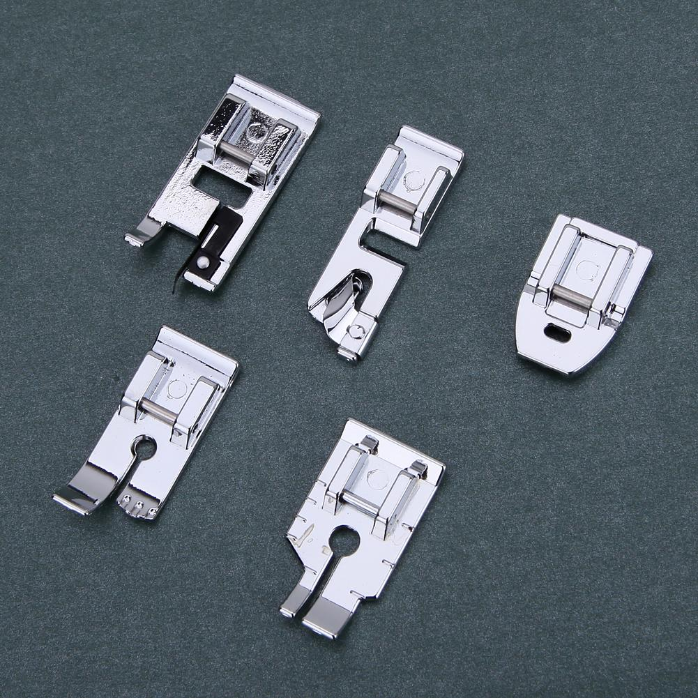 Stainless Steel Sewing Machine Presser Foot Feet For Brother Singer Janome DIY Domestic Home Sewing Accessories