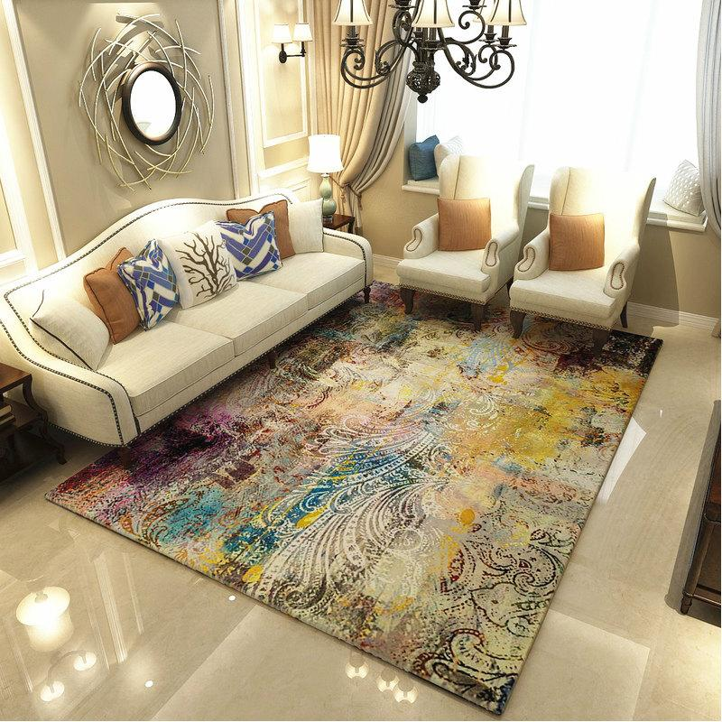 Modern Art Carpets For Living Room Abstract Area Rugs For Bedroom ...