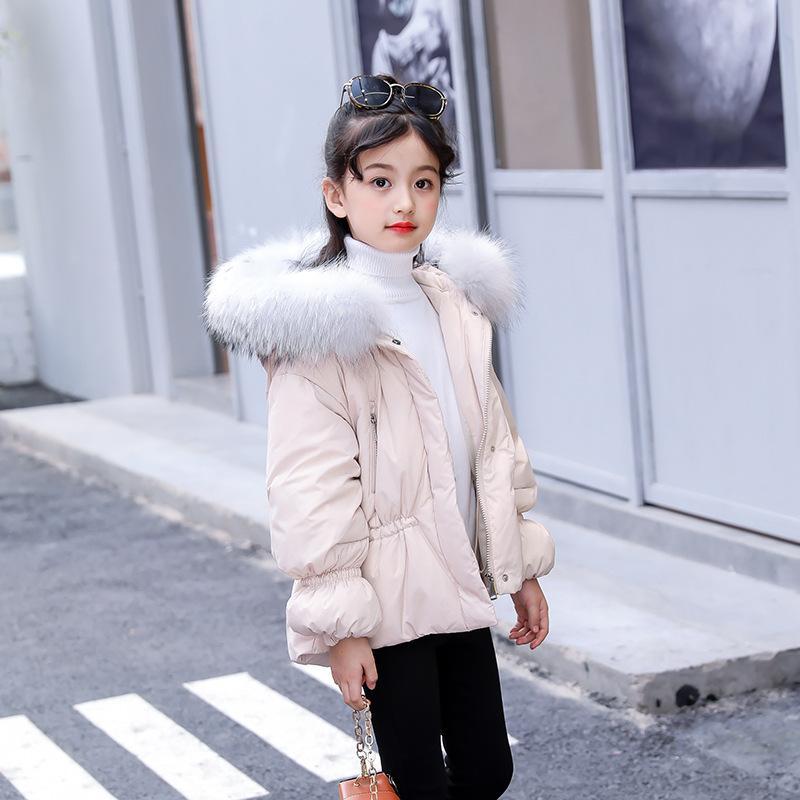 4b6ae860700f Kids Down Jacket Hooded Winter Warm Parka Russian Toddler Girls ...