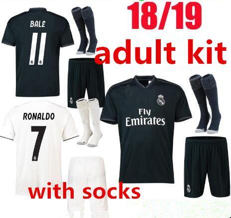 730a19418 Compre Nuevo 2018 2019 Real Madrid Jersey Adulto Jersey Kit Casa Fuera De  Casa 18 19 Ronaldo Modric Isco Ramos Asensio Camiseta Fútbol Completo Kit  Con ...
