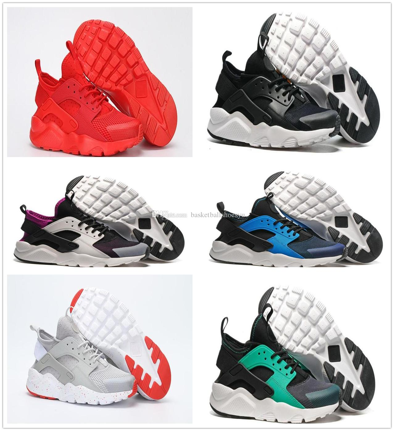 Hot Sale 2018 Cushion Huarache 4 Red Black Shoes White Men Women Huaraches Outdoor High Quality Run Ultra BR Shoes 2015 new online cheap sale best wholesale outlet official tumblr online MU6Lj9MQn
