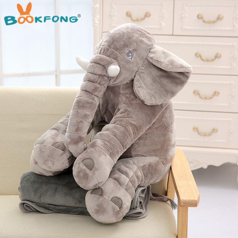 2019 60cm Elephant Pillow Plush Toy Soft Stuffed Animals Elephant
