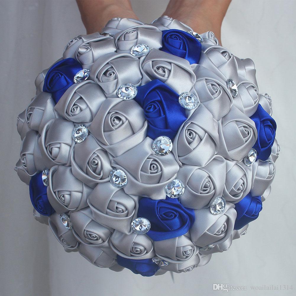 2018 Bridal Bouquet For Wedding Decoration Blue Wedding Bouquet