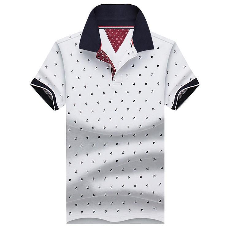 922da7a922c8c Compre Nova Marca Polos Mens Impresso Camisas Polo 100% Algodão De Manga  Curta Camisas Polo Casual Gola Masculina Camisa Polo 4XL Eda234 De  Yuzhaolin