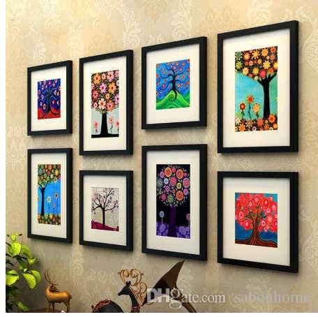 081d291cf55 2019 Wooden Picture Frame Black Coffee Color Photo Wall Frames Painting  Frame Square And Rectangle Mixed Wall Decoration From Sabonhome