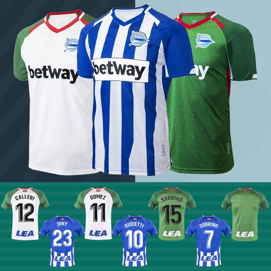 Nuevo 2018 Alaves Jersey Inicio Futbol Camisa CALLERI GUIDETTI JONY GARCIA  SOBRINO 2019 Deportivo Alaves Away Tercera Camiseta De Fútbol Jersey Por ... 2cd32de40918f