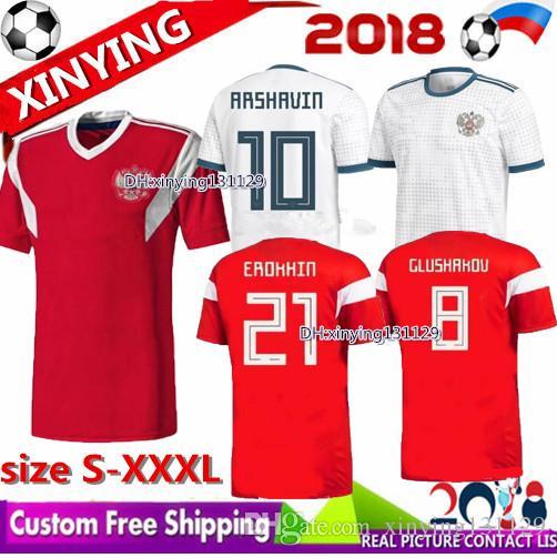 ff4f90463f3 2019 World Cup 2018 2019 Russia Soccer Jersey 18 19 ARSHAVIN KERZHAKOV  YUSUPOV DZAGOEV KOMBAROV DZYUBA IONOV Russian Football Shirt Size S XXXL  From ...