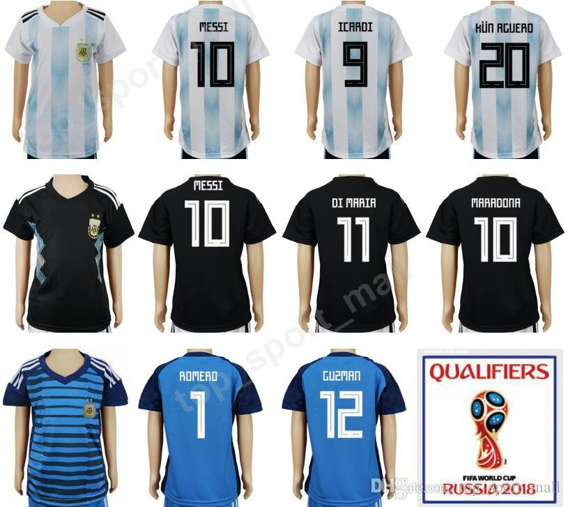 5d28595d6 ... leo messi youth jersey 2019 Argentina Youth Soccer Jersey Lionel Messi  Kid Football Shirt .