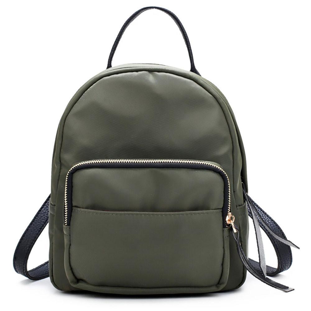 b6a5713acb Fashion Women Nylon Waterproof Backpack Fashion Backpack Women Small ...