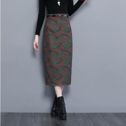 a5855e52f 2019 Clobee Women Skirt 2018 Autumn Winter Step Pencil Skirt Woolen Skirts  Slim Belt Office Ladies Midi Saias Faldas Mujer J443 From Baica, $31.23 |  DHgate.