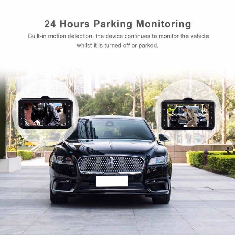 "1080P car DVR driving digital recorder car dash cam 3"" full HD 170° WDR G-sensor cycle recording motion detection parking monitor"