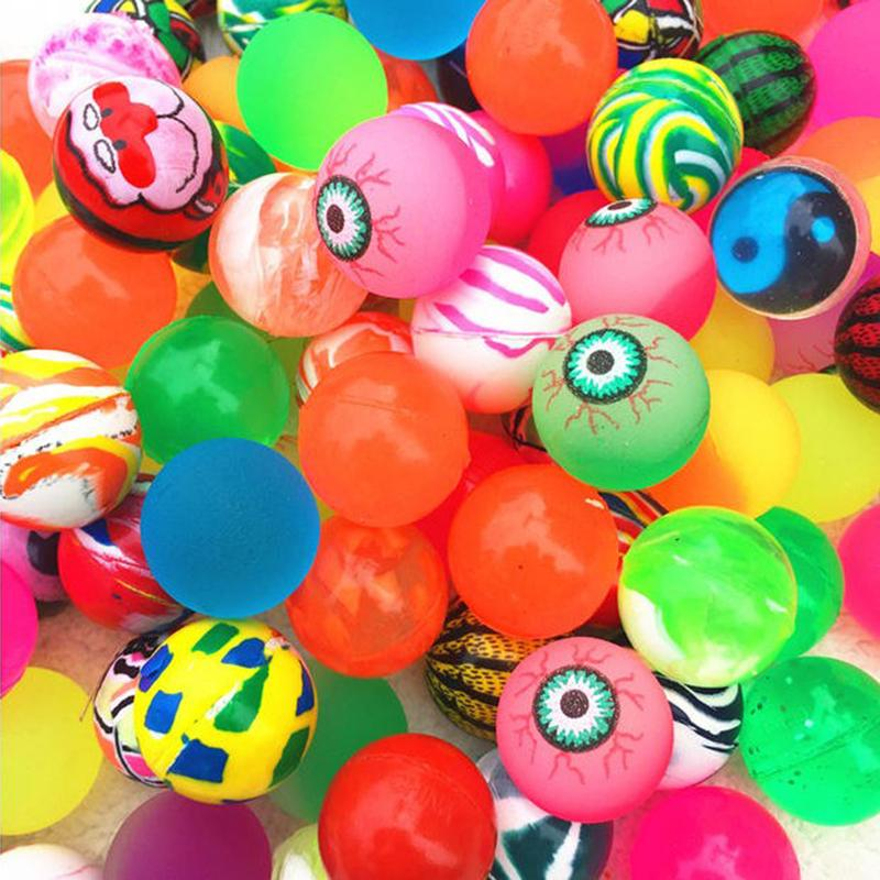 Colorful Bouncy Balls Birthday Party Loot Bag Toy Filler Jet For Kids Small Gifts 50th Anniversary Favors