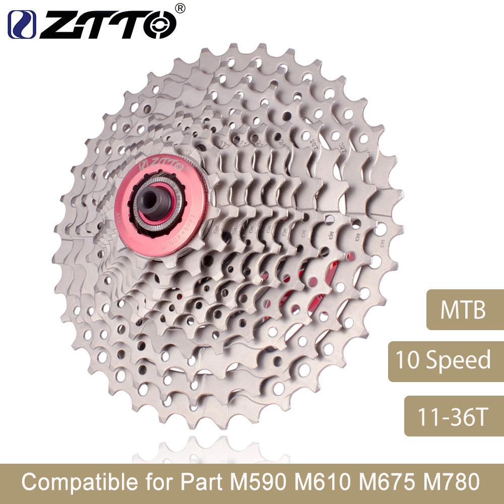 Ztto Mountainbike Mtb 10 Geschwindigkeit Kassette 10 Velocidade 10s 36 T Fahrradteile Freilauf Kettenrad Für M590 M610 M675 M780 Xt Slx