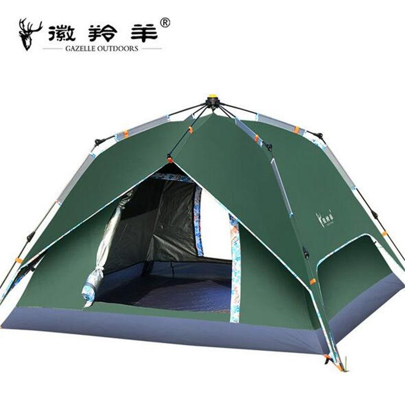 GAZELLE OUTDOORS Hike Travel Play Tent Thickened Silver Spinning Rotary  Automatic Account Camping Outdoor Supplies dz029