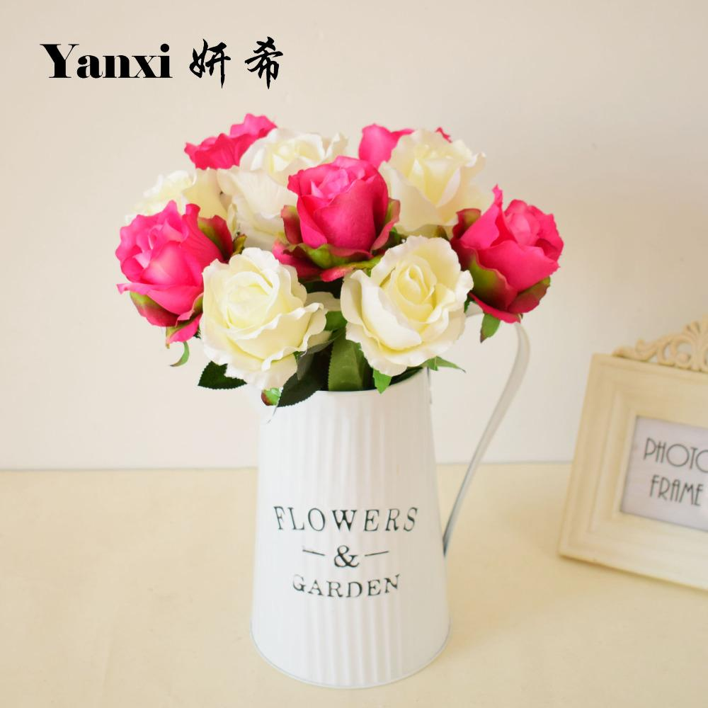 2018 Silk Rose Artificial Flower For Home Garden Tabletop Party