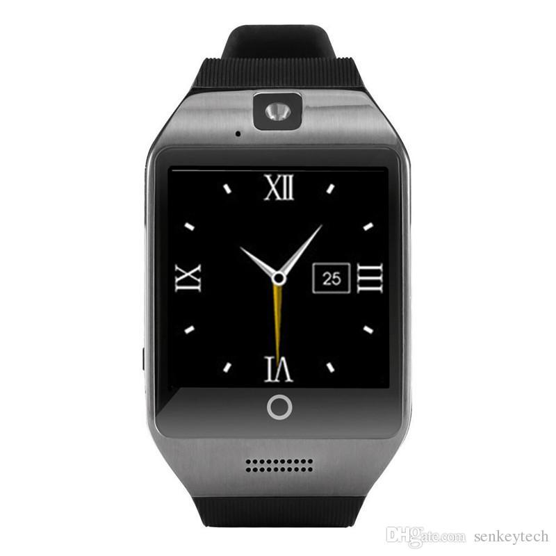 1 stücke q18 bluetooth smart watch telefon mit 0,3 mt kamera mtk6261d smartwatch für android handy micro sim tf karte männer frauen uhr