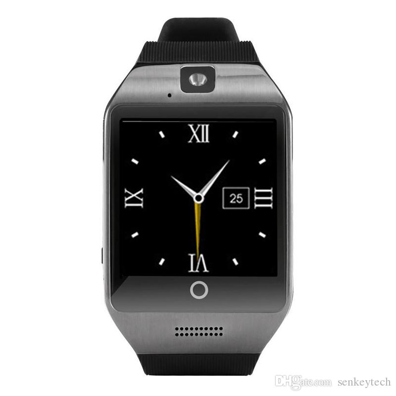 """Q18 Smart Watches 1.54"""" Curved Screen Bluetooth Smart Watch phone Q18 With Camera Tf Sim Card Slot For Android Samsung iphone"""