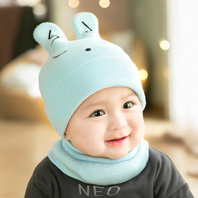 b2d1b3bd539 2019 Baby Hats Newborn Cartoon Knitting Cap Toddler Kids Boys Girls Rabbit Ear  Beanie Cap Infant Autumn Winter Warm Hat From Towork