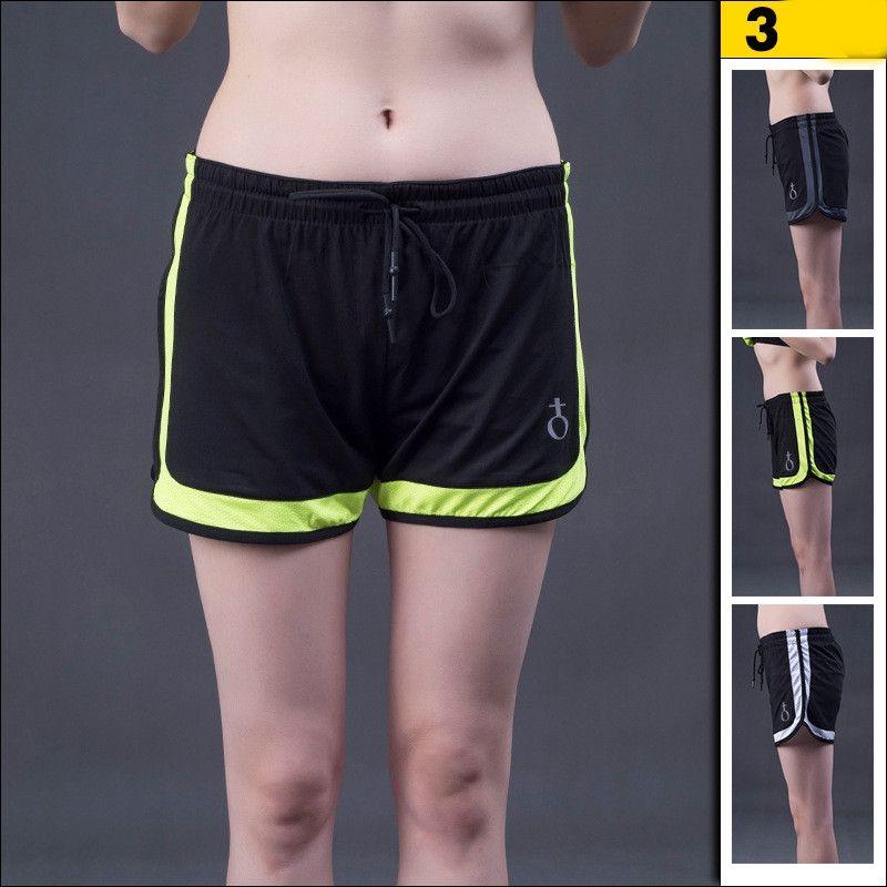 Compre Mulheres Esporte Calções De Fitness Yoga Mulheres Calções Esportivos  Cool Ladies Sport Correndo Curto Roupas De Fitness Calções De Jogging De ... 3a6bcaf7f1da3
