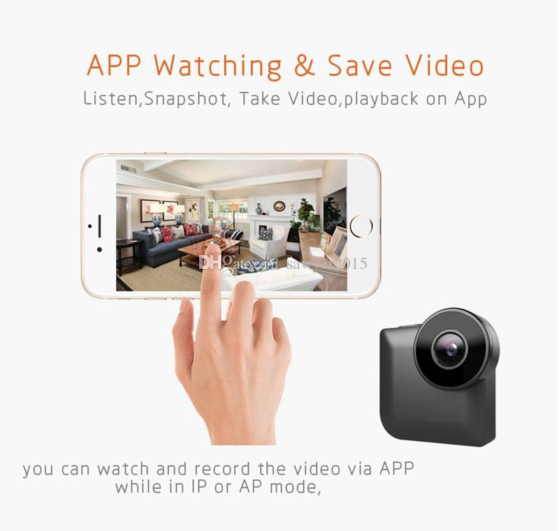 C3 mini WiFi Cámara IP inalámbrica P2P remoto de la cámara Sports Night Vision Control mini videocámara HD 720P al aire libre DV DVR