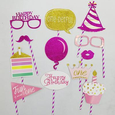 Großhandel Einhorn Party Dekoration Photo Booth Props Geburtstag